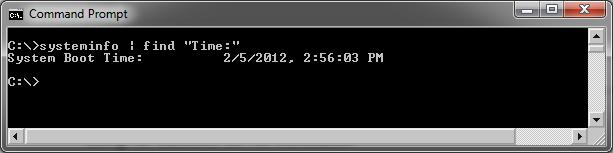 uptime-command-windows-7