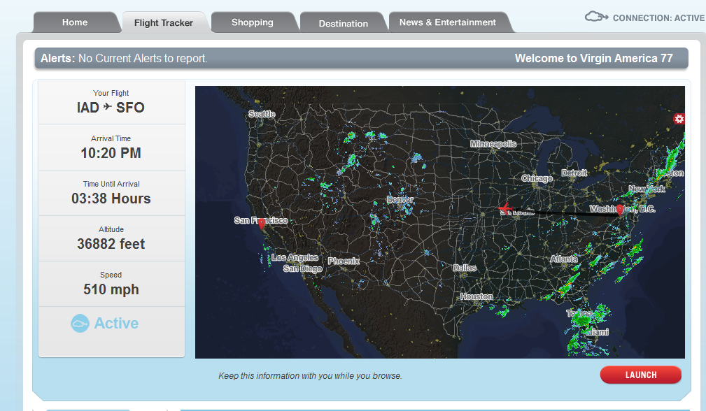 Virgin America Flight Tracker Map With Weather Layer Via