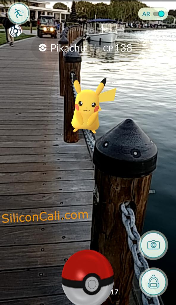 Pikachu_over_water_Pokemon_Go_Screenshot