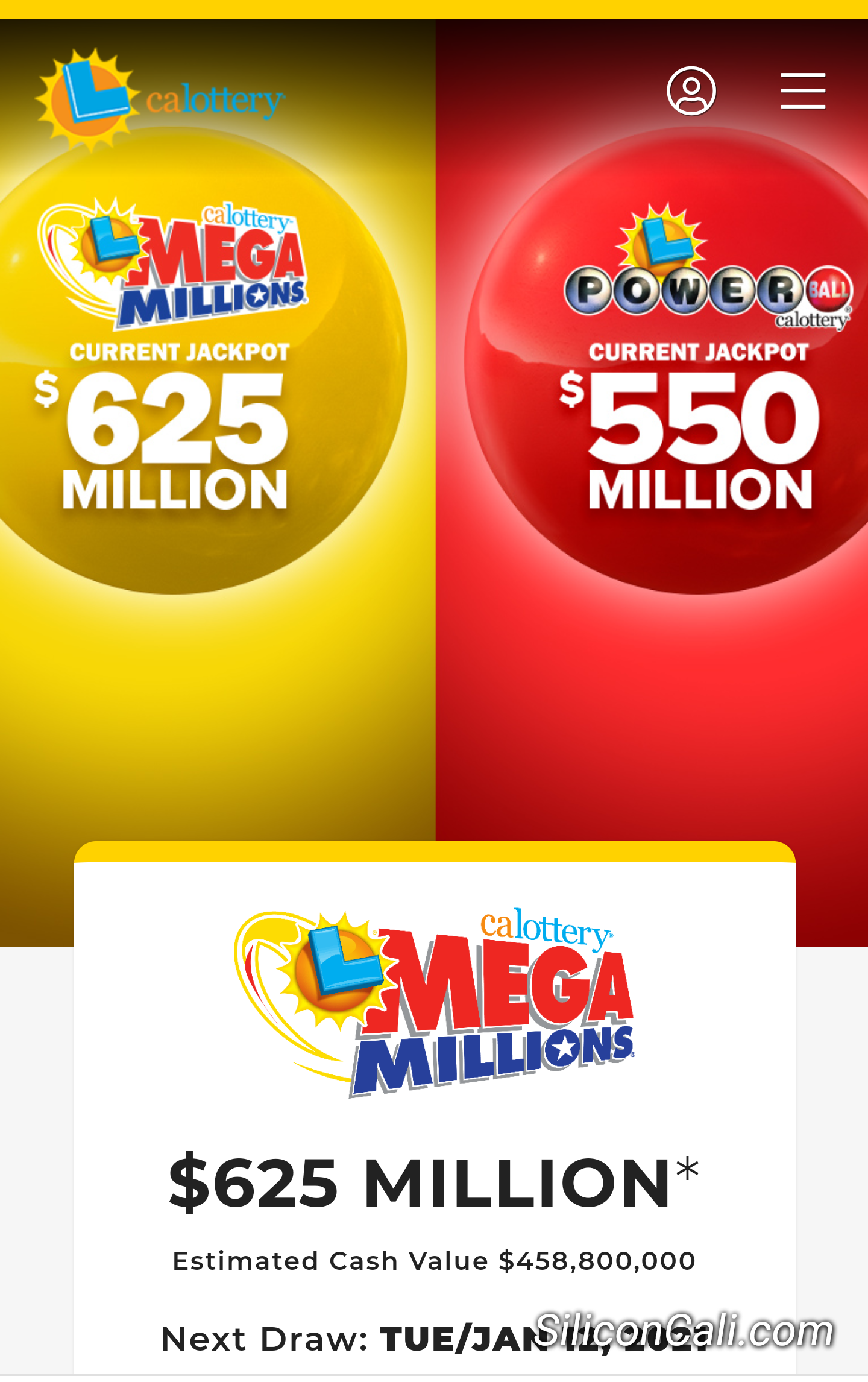 Mega Millions and Powerball Jackpots